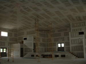 BTCC Temple-Main Hall Dry Wall (7-21-05)