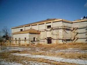 Temple Front Looking at Classroom & Library -12-14-04